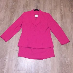 Jackets & Blazers - Hot Pink Skirt Suit